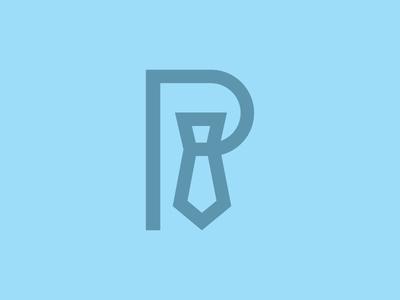 P for professional icon logo graphic design tie letter p