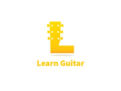 Learn Guitar brand music guitar l monogram graphic design logo