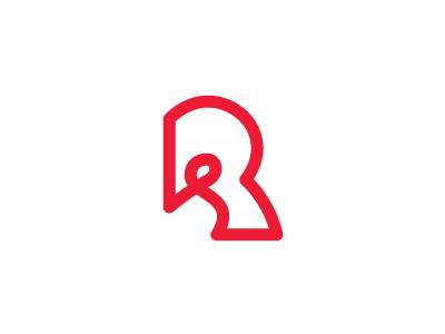 RR letter r monogram logo