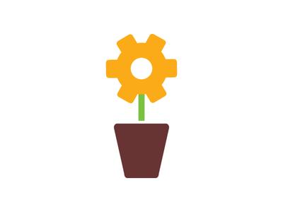 Cog/plant graphic plant gear cog