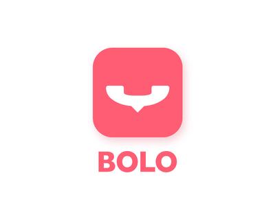 Bolo icon logo graphic design urdu identity mouth happy chat phone