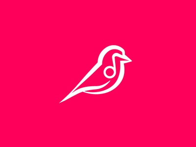 Bird/Music logo line music bird