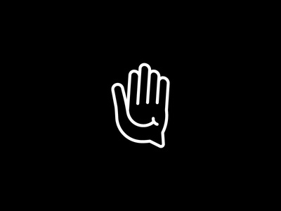 Hand Chat Smile icon graphic lines smile chat hand