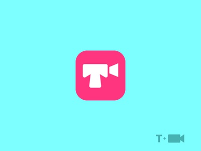 T/Chat/Video icon logo call video letter chat t
