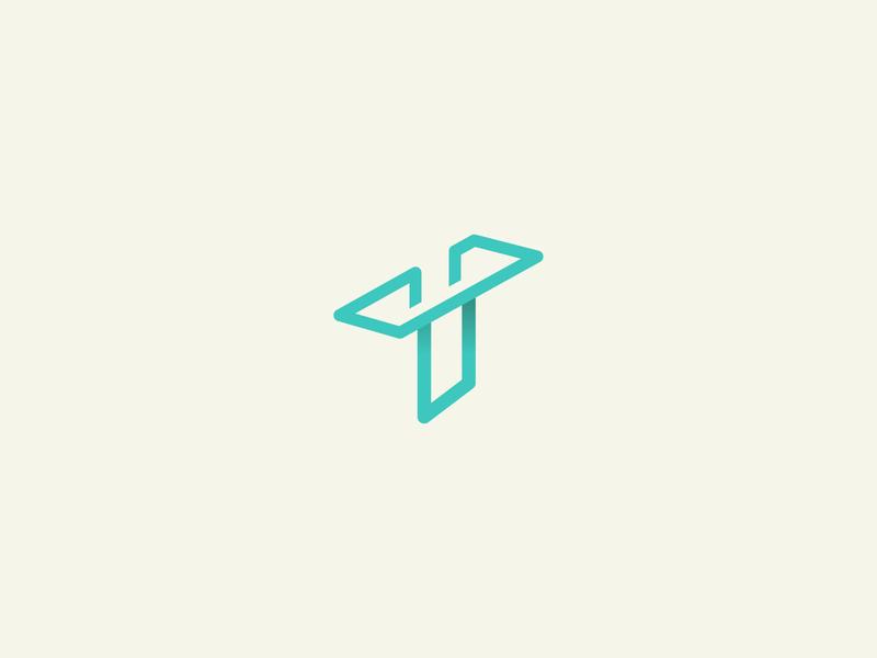 T icon minimalist illustration graphic design logo