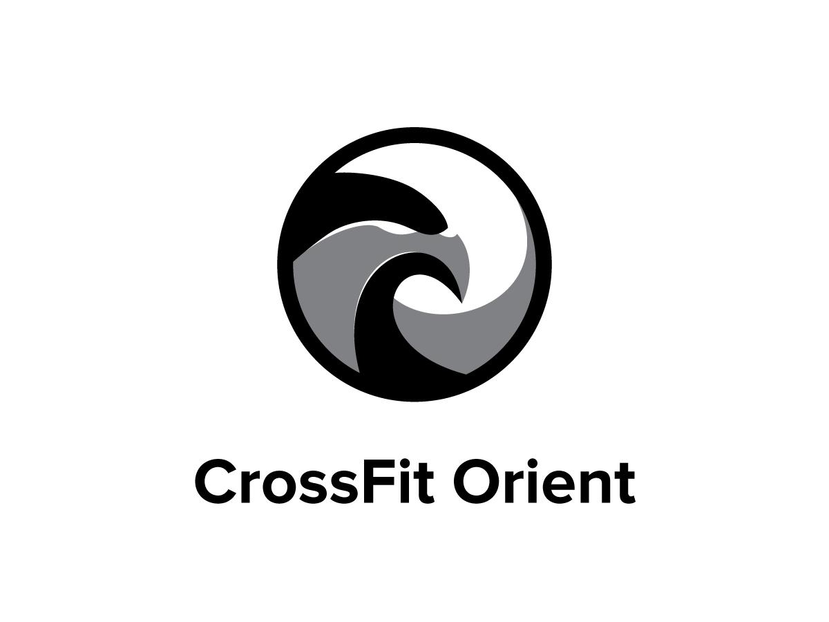 Crossfit Orient identity brand black kite eagle bird graphic design icon logo