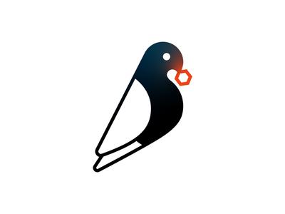 Bit-Bird research data analysis cell bird icon identity graphic design logo