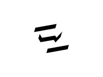 E/Arrow identity minimalist graphic design monogram icon logo