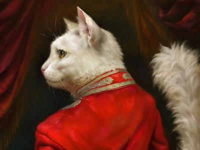 The Hermitage Court Chamber Herald Cat