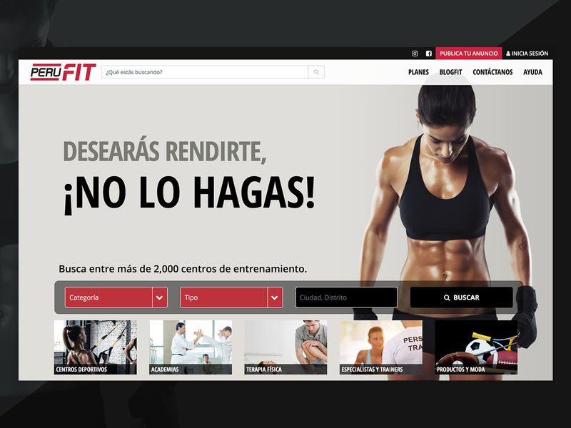 PERU FIT js html css webdesign design ui