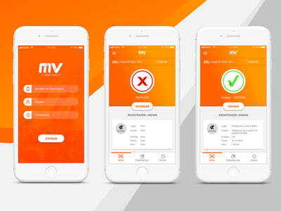 MV TICKETE SCAN design ui app