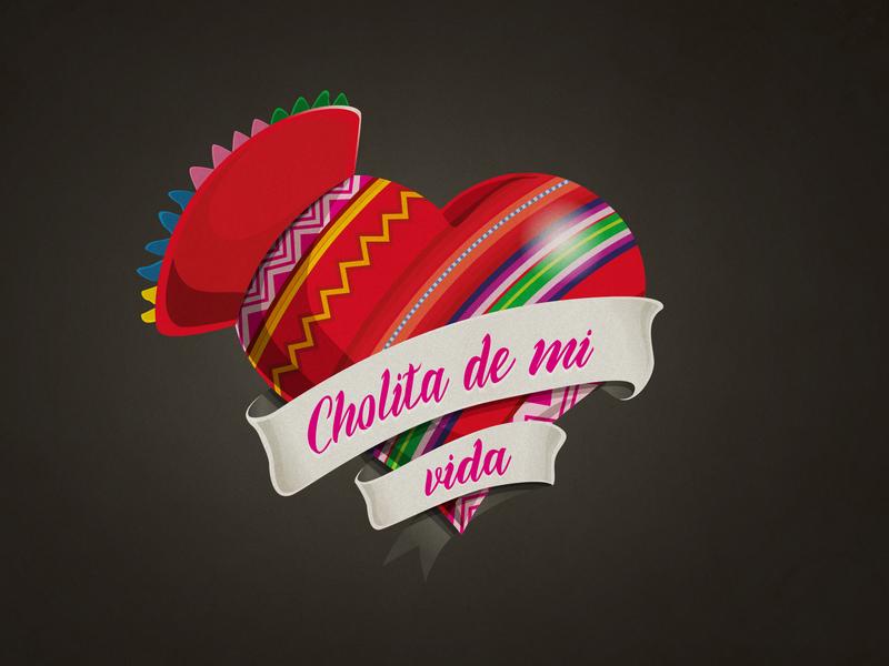 Cholita de mi vida design illustration