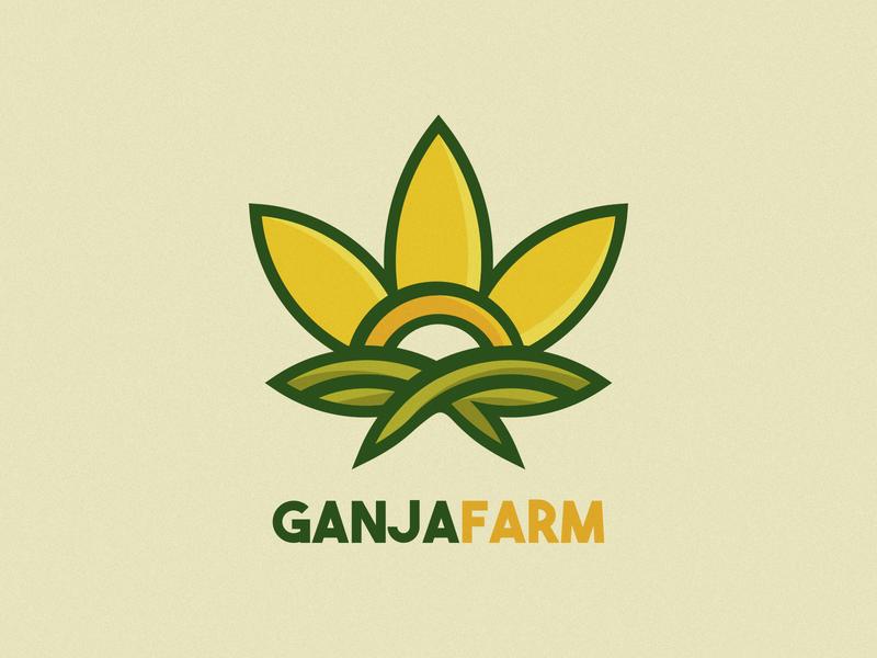 GANJA FARM illustration design logo