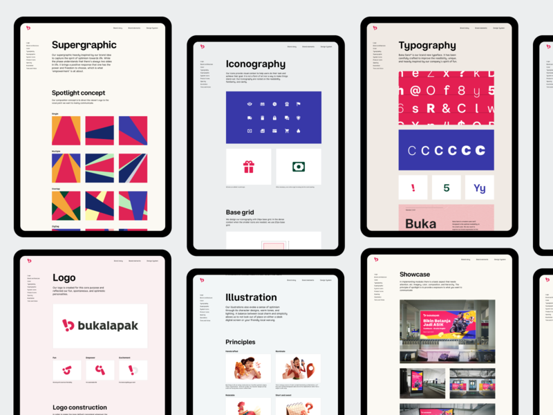 Bukalapak Brand Elements guideline marketing icon iconography typography layout web design branding design branding