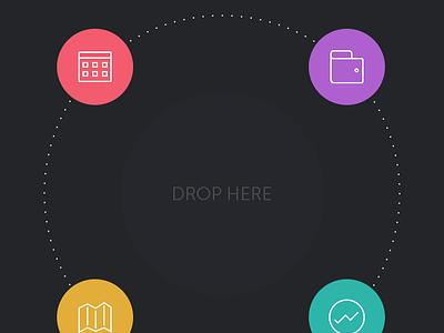 Life minimal app [GIF] buditanrim minimal app iphone ios flat gif animation graph circle menu interaction