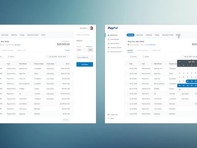 Paypal Redesign dashboard website web ux ui clean minimal calendar widget product design buditanrim paypal