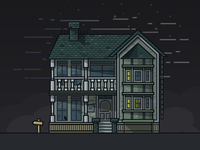 Zerply 404 Page - Haunted Building