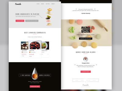 Comida Food - Website website food landing page minimal simple yolk clean ux ui typography buditanrim