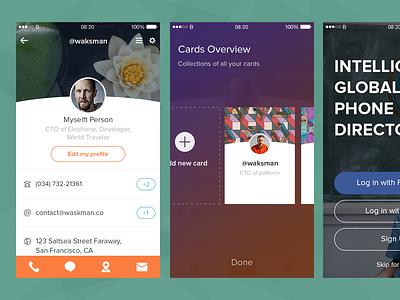 Some mobile app ui ux animation minimal iphone app product cards profile buditanrim