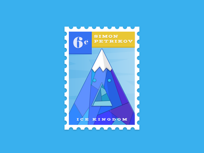 Ice Kingdom Stamp adventure time stamp budi icon illustration icon