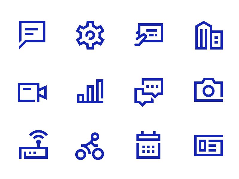 Bank Icon - Rejected version icon set building icon finance bank monoline line budi icon icon