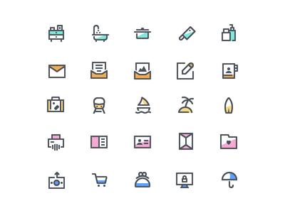 Budicon-Chroma 50% minimal color icon chroma chromaicon budi icon budicon icon icon set