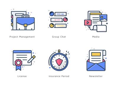 Icon Suite Vol 2 colorful icon color icon license chat chat icon team finance budi icon icon