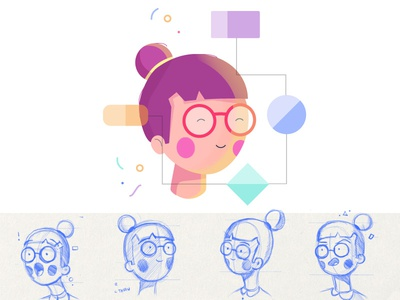 Ubergrad Character: Lina education icon girl character illustration ubergrad