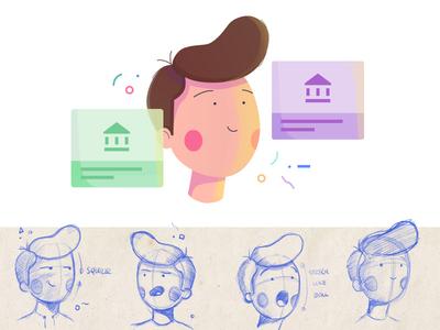 Ubergrad Character: John ubergrad boy ui web illustration illustration education character