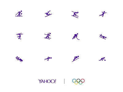 Yahoo Winter Olympics Icon set winter sports snowboard sports icon set icon suite yahoo olympics icon