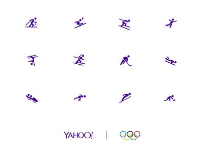 Yahoo Winter Olympics Icon set winter sports snowboard sports icon set icon suite yahoo olympics icon