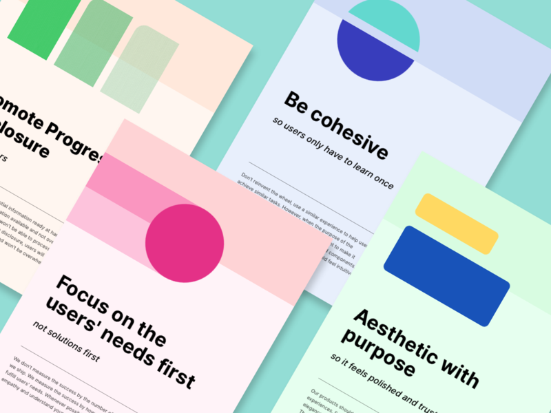 Bukalapak Product Experience Principles Poster geometry poster design principles principles