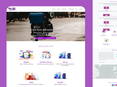 Delivery Express figma adobe xd ui design ux design ui  ux website design web design website