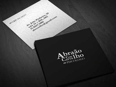 Abraão Coelho, psychologist business card rio minas gerais gestalt logo