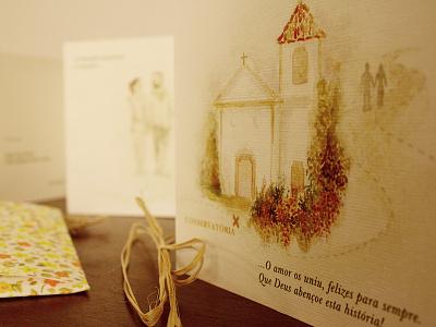 Lovely wedding invitation wedding illustration watercolor invitation rio de janeiro brazil