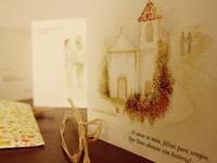 Lovely wedding invitation