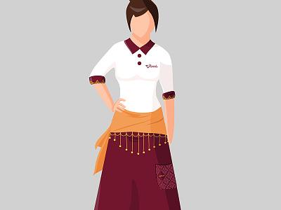 Harad: Uniforms for a restaurant uniform arabia asia restaurant illustration