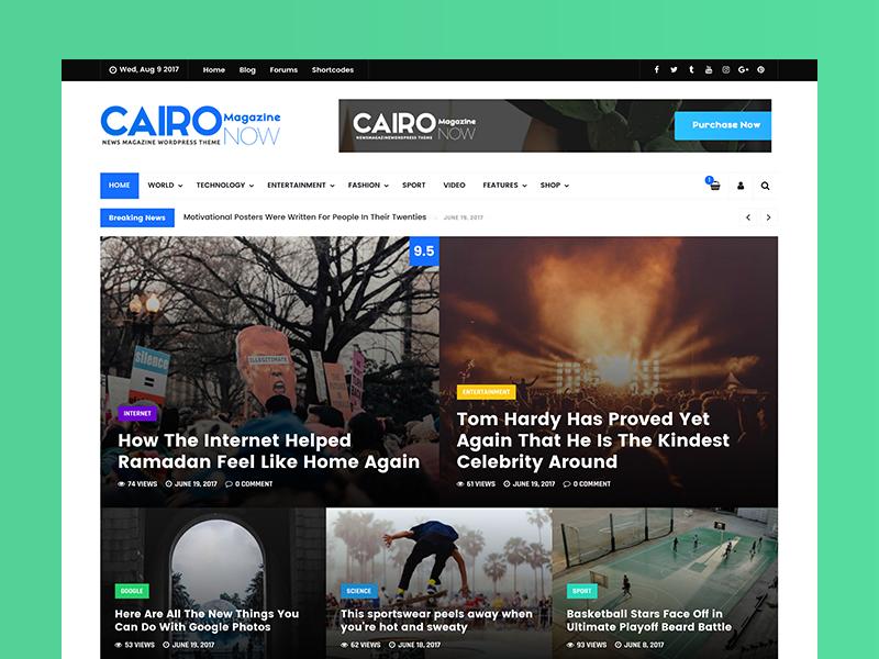 Cairo - Multi-Purpose Magazine & Blog WordPress Theme