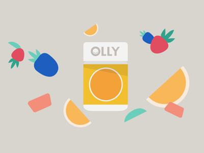 Facebook Business - OLLY Style Frame storyboard vector illustration gummy flat 2d animation motion design vector vitamins fruit illustrator style frame