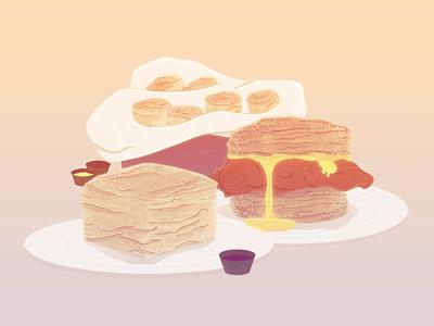 Biscuits drawing food textures photoshop 2d comfort food illustration biscuits