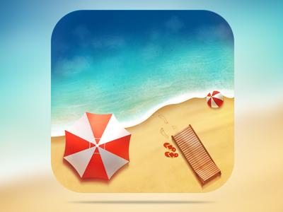 Astur playa App Icon Design  astur playa app icon design nelutu decean photoshop painting