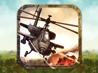 A Helicopter Apocalypse Game Graphic Design appcycles app iphone ipad photoshop logo icon gui ui nelutu design game battle helicopter apocalipse chopper combat