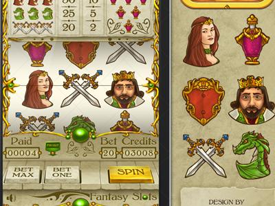 Fantasy Kingdom Slots Graphic Design fantasy kingdom slots graphic desgin icons ii gui interface game nelutu decean