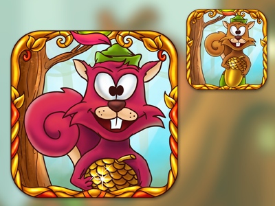 Squirrel hood game app icon squirrel hood game app icon decean nelutu photoshop design