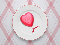 Heart on plate - free psd