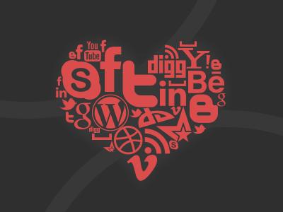 Social heart social heart illustration