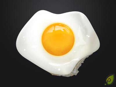 Fried egg - free psd fried egg eggs illustration icon free psd png pixtea decean nelutu photoshop