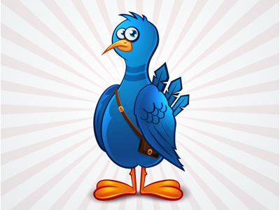 Twitter bird icon - free psd twitter bird icon free psd freebie download illustration blue green gray photoshop decean nelutu pixtea icons media colors