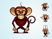 Monkey Mascot - free psd and png