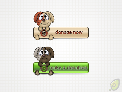 Donate Buttons Free PSD by Ioan Decean on Dribbble